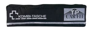 Auto-Erste Hilfe-Kombitasche 3in1 Warndreieck Warnweste Verbandstasche KFZ Set , Farbe:schwarz
