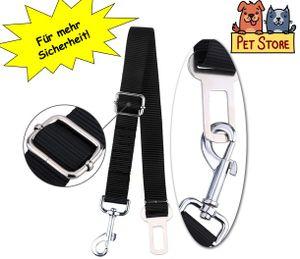 2x PetStore Hundegurt Auto Sicherheitsgurt Anschnallgurt Hundegeschirr Schwarz Universal Hundesicherheitsgurt Autositzgurt Hunde Gurt