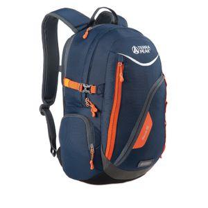 Terra Peak Nexus Rucksack  25L Schulrucksack Tagesrucksack Alltag verschiedene Farbvarianten, Farbe:dark navy/orange