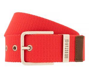 MUSTANG Gürtel Textilgürtel Herrengürtel Jeansgürtel Rot 8736, Länge:85, Farbe:Rot