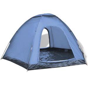 CampFeuer Tunnelzelt 6-Personen-Zelt Blau