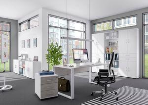 Röhr-Bush Schreibtisch 150 cm Beton Nachbildung