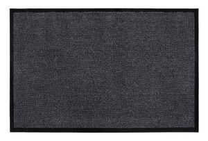 Fußmatte 80 x 120 cm Anthrazit Grau mit Gummiumrandung Schmutzfangmatte Sauberlaufmatte