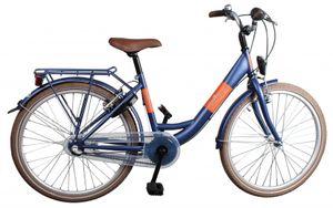 Bike Fun Kinderfahrräder Mädchen Blizz 26 Zoll 43 cm Mädchen 3G Rücktrittbremse Mattblau