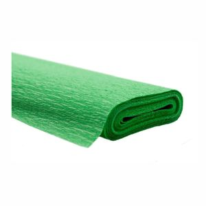 Creleo - Krepppapier hellgrün 50x250 cm Rolle färbt nicht ab bei kontakt mit Wasser