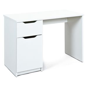 Schreibtisch Bürotisch WESTPHALEN weiss 1 Schublade 1 Tür Homeoffice
