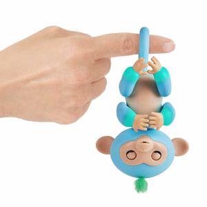 WowWee Fingerlings Äffchen Charlie interaktive Spielfigur blau-grün