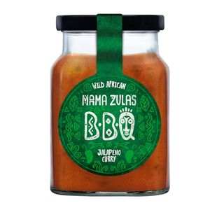 Mama Zula Wild African BBQ Jalapeno Curry Sauce im Glas 320ml