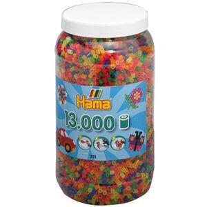 Hama 211-51 Bügelperlen, Neon, 13.000 Stck
