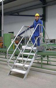 Günzburger Steigtechnik Überstieg 45° Stufenbreite 1000 mm 11 Stufen