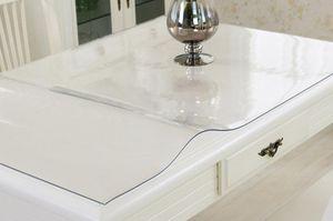 PVC Tischdecke Tischschutz Wachstuch Meterware Transparent Muster 1,7mm 90cm Breite : 110cm x 90cm x 1,7mm