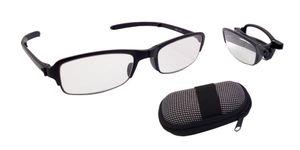 Faltbare Lesebrille mit Brillenbox 1,5 - 3,5 dpt Uni Lesehilfe Sehhilfe Etui , Dioptrien:+2.00