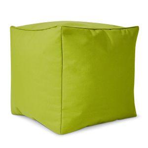 Green Bean © Cube Sitzsack Hocker 40x40x40 cm, Würfel & Addon für Cozy Gaming Beanbag, Sitzhocker, Fußhocker für Sitzsäcke, Fußkissen & Stütze, Fußablage für Kinder und Erwachsene, Grün
