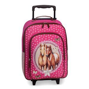 Fabrizio Mädchen KinderTrolley Motiv Pferde pink