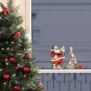Xmas Fenstersticker Nostalgischer Weihnachtsmann