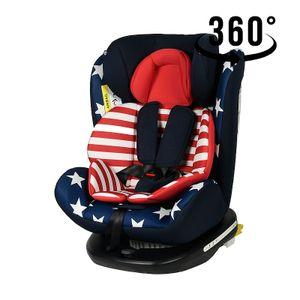 Tweety Captain America Kindersitz mit 360 Grad drehbarem Isofix-System-Crocodile 0, 36 kg, schwarze Basis