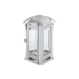 MOLL Grablaterne Edelstahl mit Glas matt 14x14x24cm inox