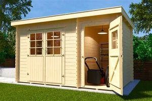 Gerätehaus Holz 28 mm Weka Gartenhaus 254 Gr.2 natur 390x296cm
