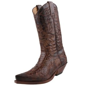 Sendra Python Cowboystiefel 3241 Braun, Schuhgröße:EUR 43