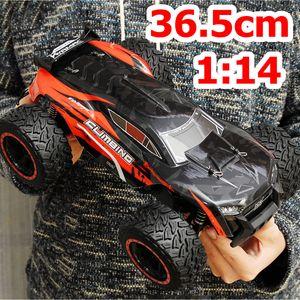 AUDEW RC Ferngesteuertes Auto mit 70 km/h High Speed, 4WD 1:14 Off-Road 2.4GHz Funkfernsteuerung Monstertruck Buggy, Rot