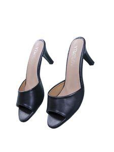 Damen Stiletto High Heels Fashion Party Kleid Schuhe One Word Open Toe Sandalen,Farbe: Schwarz,Größe:40