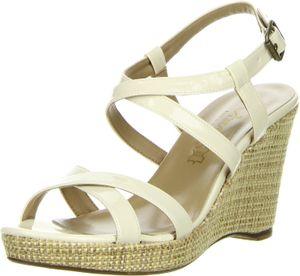 Vista Damen Sandaletten elfenbein, Größe:41, Farbe:Elfenbein