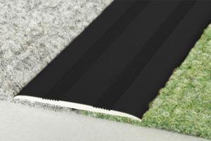 0,93 Meter | Übergangsprofile | Alu | eloxiert | Effector | 35x2mm | A08SK, Farbe:Schwarz