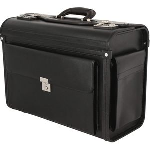 Aktenkoffer Pilotenkoffer Laptop Dokumenten Koffer Kunstleder Schwarz 46 Bowatex