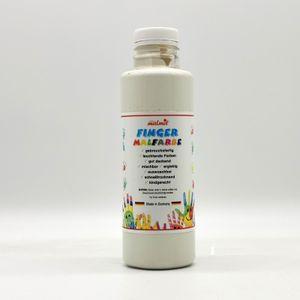play malmit® Fingerfarben Fingermalfarben Fensterfarben Malfarben Kinderfarben Weiß 250ml