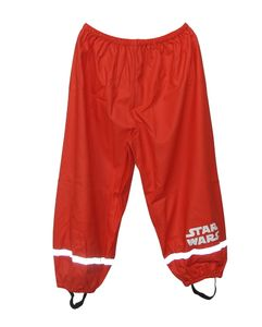 Star Wars Kinder Jungen Regenhose Buddelhose Matschhose Jungen Outdoor Hose rot, Größe:122/128