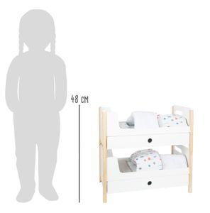 """small foot 11811 Puppenhochbett """"Little Button"""", mit Bettkastenfächern zum Verstauen von Puppenzubehör, ab drei Jahren"""