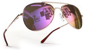 Kinder Pilotenbrille Gold Lila