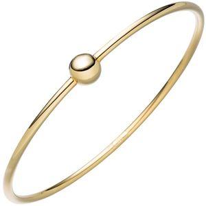 JOBO Armreif Armband mit Kugel 925 Sterling Silber gold vergoldet