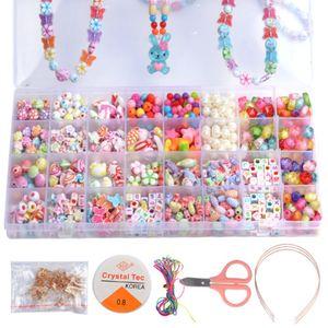 Perlen Zum Auffädeln DIY Armbänder Selber Machen Kinder Perlenschmuck 32 Gitter