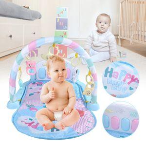 Baby Krabbeldecke Spielbogen Spieldecke Krabbeldecke Musik Spielzeug Fitness mit Spielbogen und Füßchenklavier