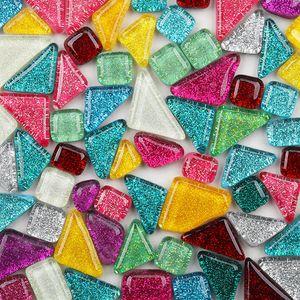 500 Stš¹ck unregelm??ige gemischte Farbe Glitter Mosaiksteine ??DIY handgemachtes Handwerk Home Decor I I 500g