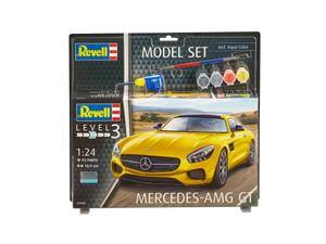 Revell Model Set Mercedes-AMG GT - Auto-Modellbausatz; 67028