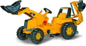 rolly toys Junior CAT Junior Lader Trettraktor mit Heckbagger, Maße: 164,5x53x76 cm; 81 300 1