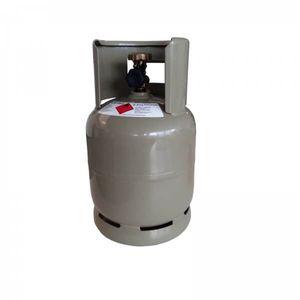 Camping Propangas-Flasche 2,5 kg grau leer mit Kragen Gasflasche