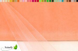 TÜLL Stoff 10m x 150cm, Farbauswahl:apricot 714