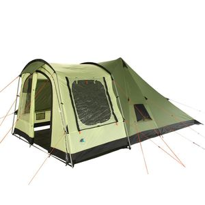 10T Tropico 4 - 4-Personen Tipi Pyramiden-Zelt mit Tunnel-Eingang, große Schlafkabine WS=5000mm
