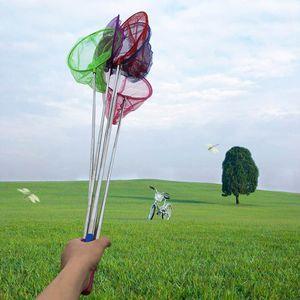 4 Stck Kescher mit Teleskopstange Fischernetz,Schmetterlingsnetz Für Kinder  86cm
