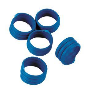 Spiralringe (20 Stück), blau, 16 mm