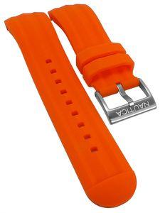 Nautica   Uhrenarmband Silikon orange 24mm PA18723G Dornschließe