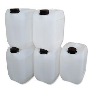 5 Stück 10 Liter Kanister, Wasserkanister Farbe natur DIN51 (5x10 Knn51)