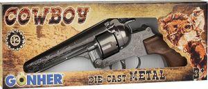Gonher Toy Revolver Cowboy 12 schottische Stahl Silber