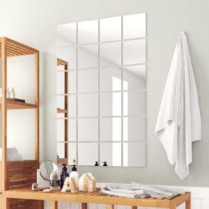 48-tlg. Spiegelfliesen-Set Quadratisch Glas