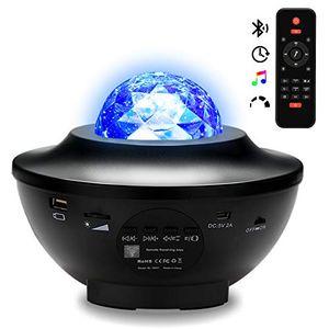 karpal LED Sternenhimmel Projektor Lampe, Music Galaxy Projektor mit Fernbedienung, Nebulicht mit Bluetooth Lautsprecher, fuer Party Weihnachten, Kinder Erwachsene Zimmer Dekoration