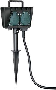 Brennenstuhl Gartensteckdose mit Erdspieß IP44 4-fach 10m H07RN-F 3G1,5, 1154450