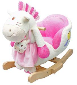 "Knorr-Baby Schaukelpony ""Paula""  weiß/pink"